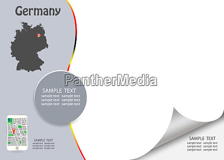 travel germany template concept vector
