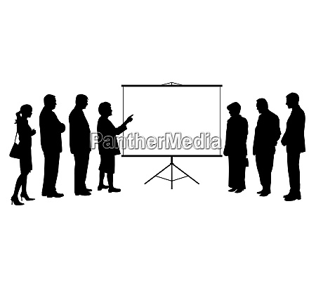 woman coach leader presentation on projection