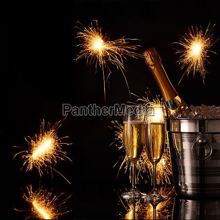 festive background with sparklers