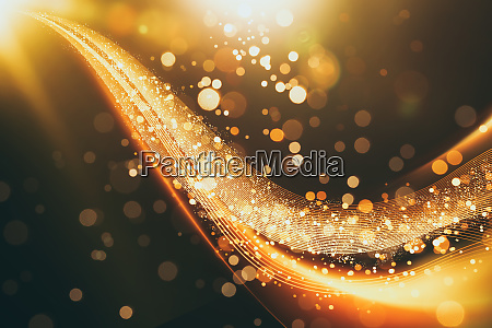 abstract glittering gold flow