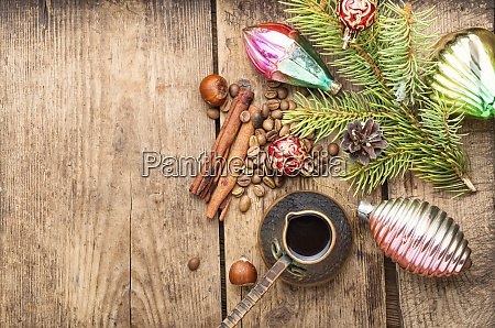 christmas toy and coffe
