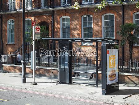 bus stop in london