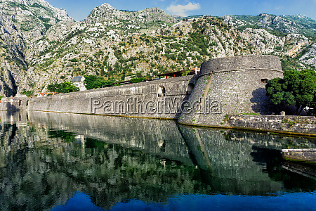 stone wall of old fortress of