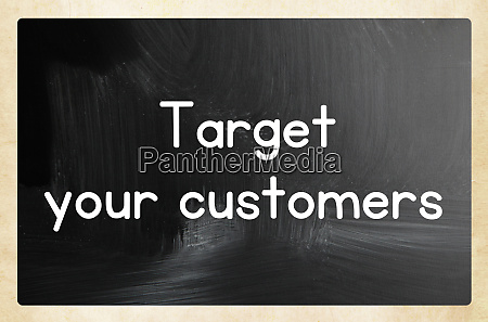 target your customers concept