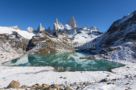 mount fitz roy with covering of