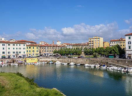 canal in venezia nuova livorno tuscany