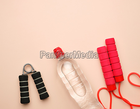 red sports rope for jumping and