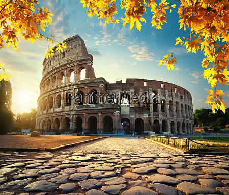 coliseum in autumn