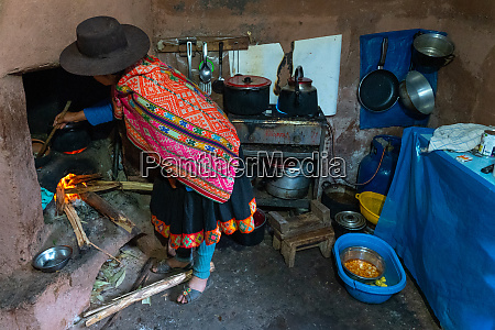local woman in colourful traditional dress