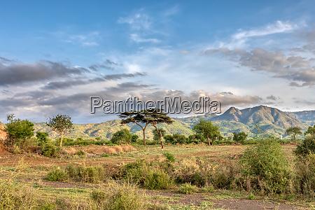 ethiopian landscape near arba minch ethiopia