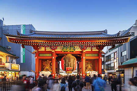 kaminarimon main gate sensoji temple asakusa