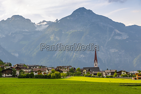 view of village church in the