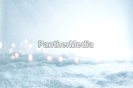winter scenery with snow and bokeh