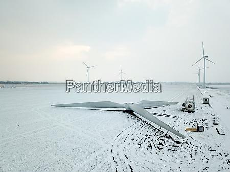 mounted rotor of a wind turbine