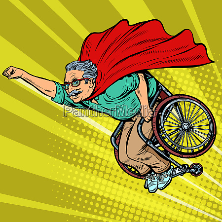 man retired superhero disabled in a