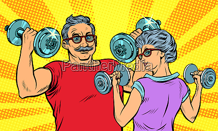 an elderly man and woman grandma