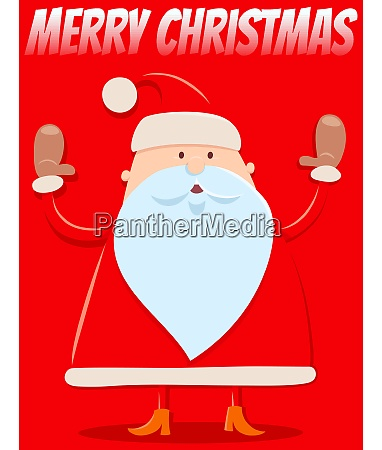 christmas design with funny cartoon santa