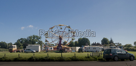 funfair in the ancient village of