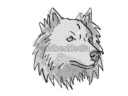 chusky mixed breed dog breed cartoon