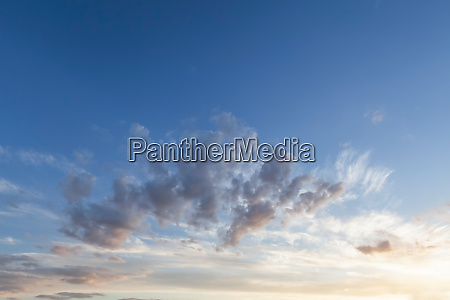 sunrise cloudscape and blue skies background