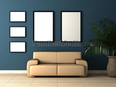 single beige sofa