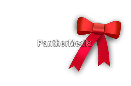 gift red ribbon red loop bow