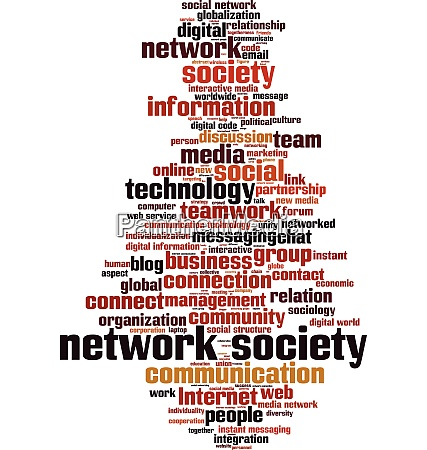 network society word cloud