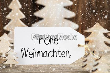 christmas tree one label frohe weihnachten