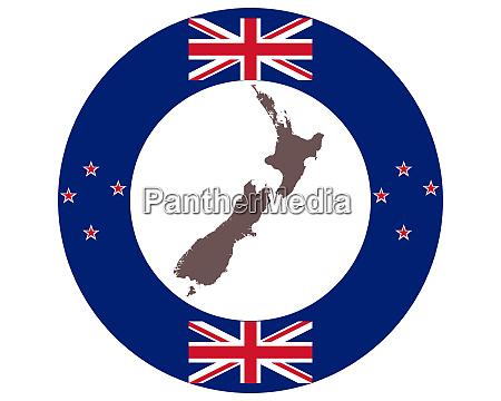 landkarte von neuseeland auf hintergrund mit