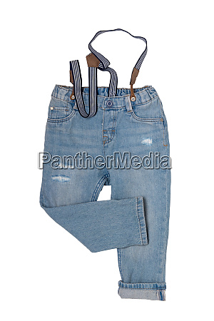 jeans isolated trendy stylish blue denim