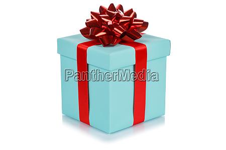 birthday gift christmas present turquoise box