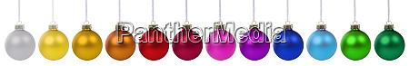 colorful christmas balls baubles banner decoration