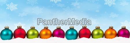 christmas balls baubles background decoration banner