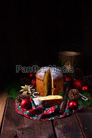panettone an italian christmas sweet bread