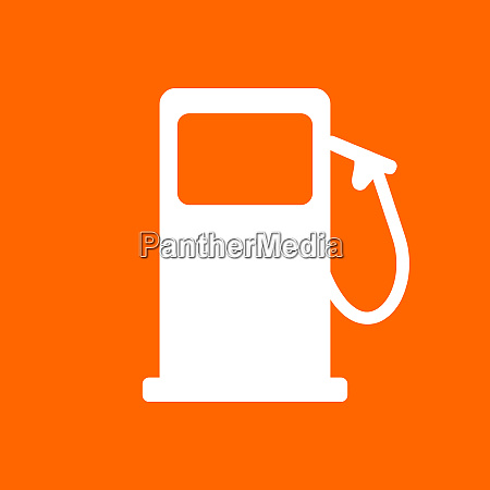 gas station and background