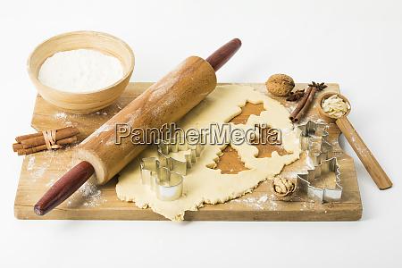 preparation x mas cookies