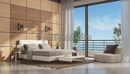 mastre bedroom with terrace overlooking the