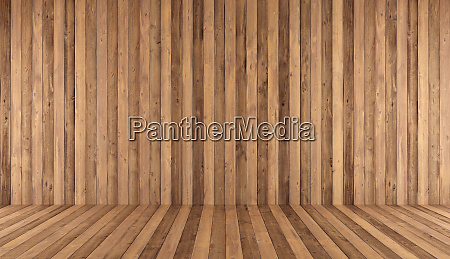 empty old wooden room