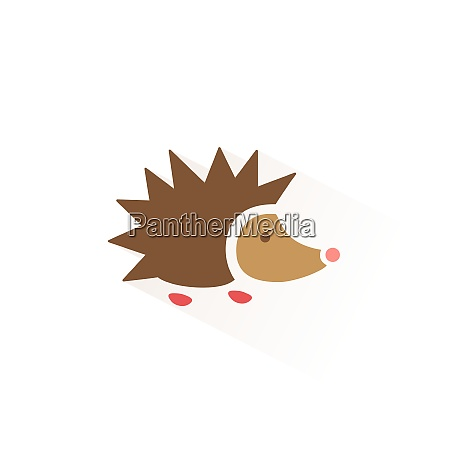 hedgehog icon with shadow flat vector