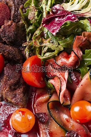 salad with beef eggplant and tomato