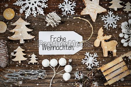 label frame decoration frohe weihnachten means