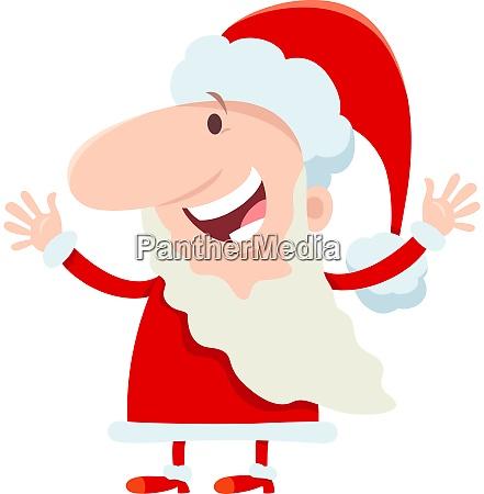 happy santa claus character on christmas