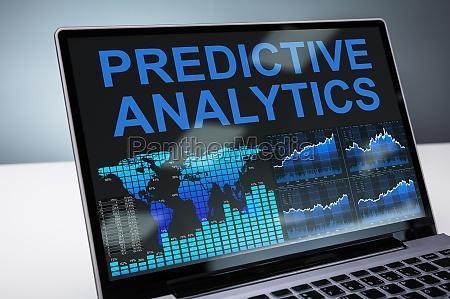 predictive analytics graph on laptop