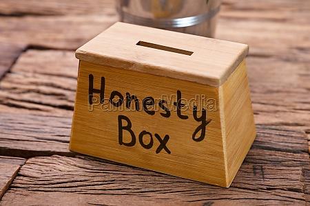 wooden honesty box