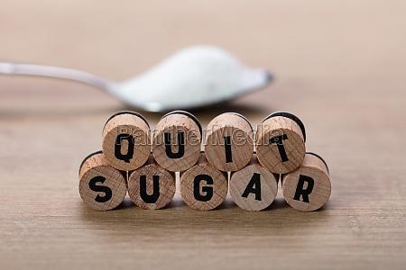 quit sugar words near spoon of