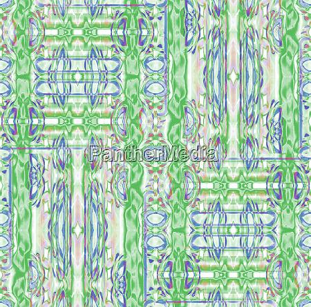 seamless intricate ornaments green blue purple