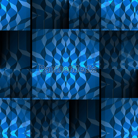 seamless checkered pattern blue black