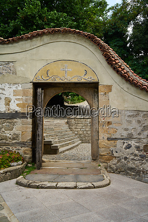 ancient entrance to the courtyard of