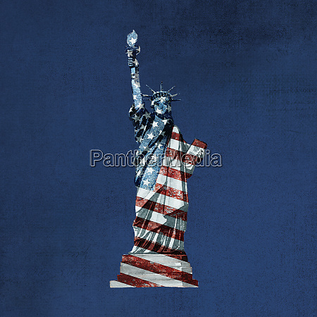 patriotic stars and stripes lady liberty