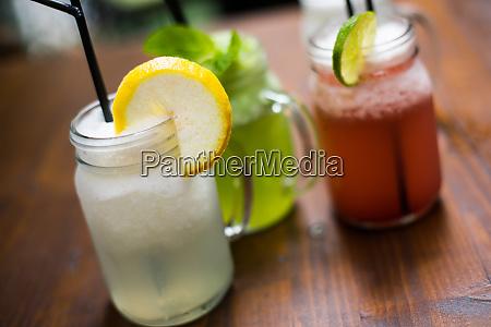 jars of lemonade